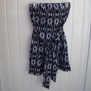 Athleta Strapless Dress Navy/White